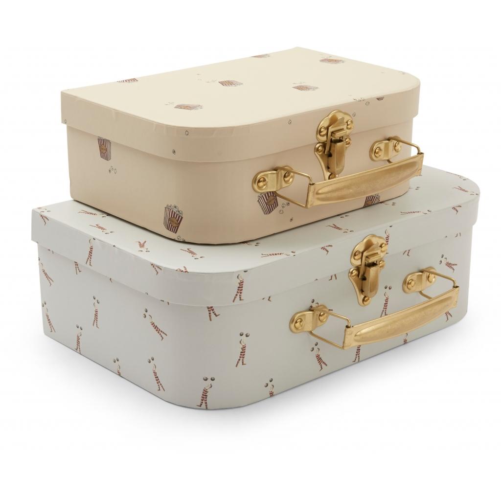 Lot de 2 valises gigognes - Strong man, popcorn