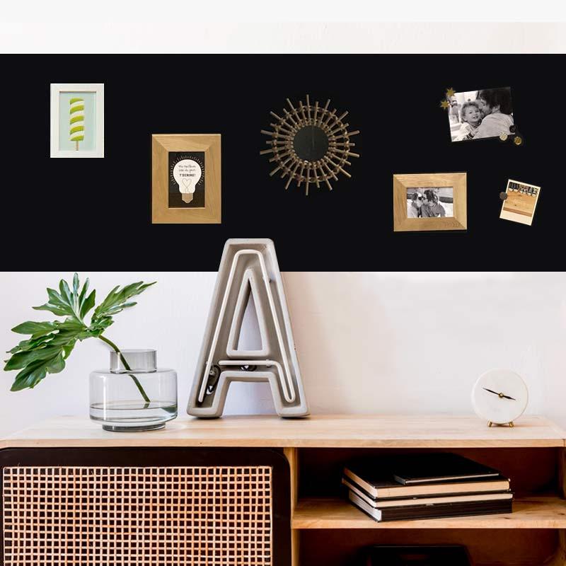 Kit papier peint magnétique repositionnable noir 2m x 60 cm