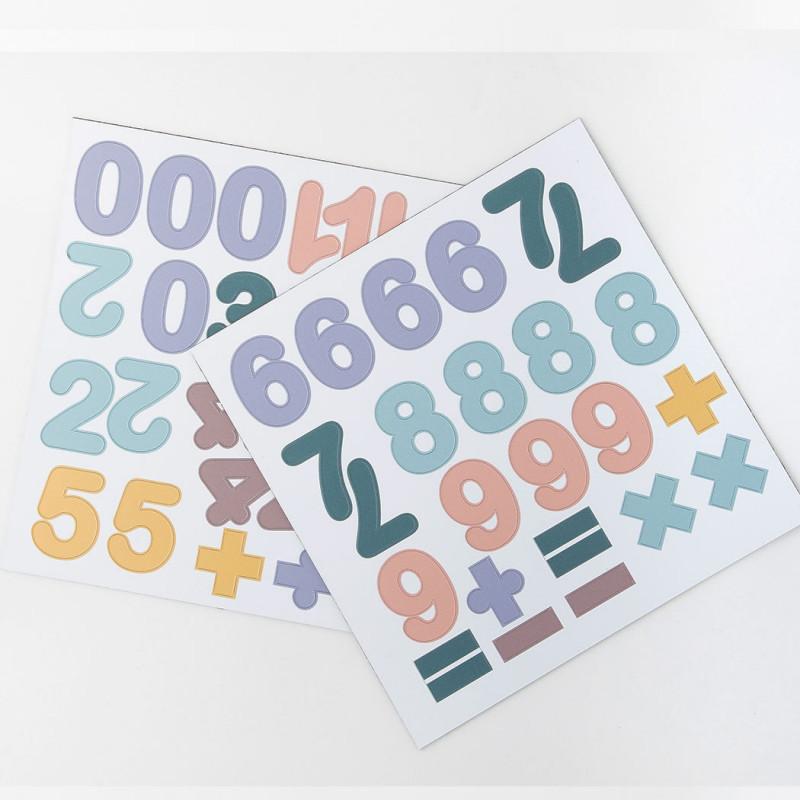 Chiffres magnétiques - pastel - 100 pièces