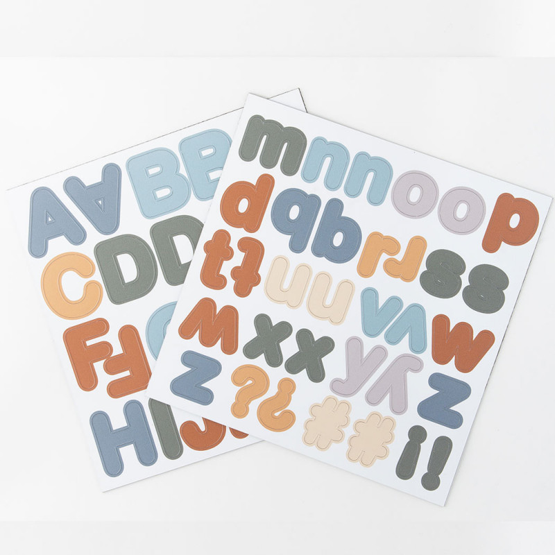 Lettres magnétiques - bleu caramel - 125 pièces