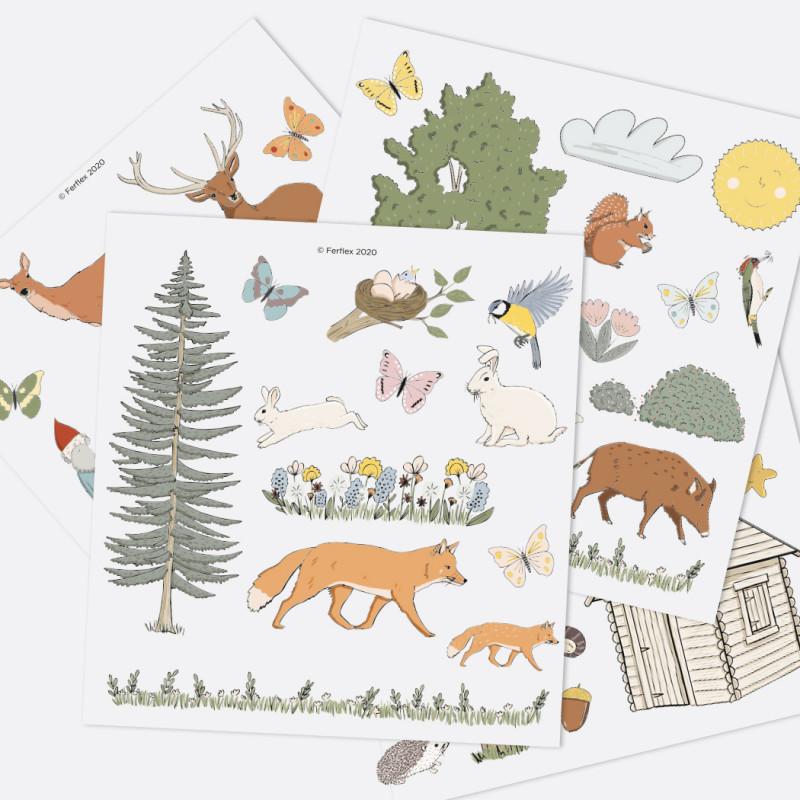 Jeu de magnets - Dans la forêt