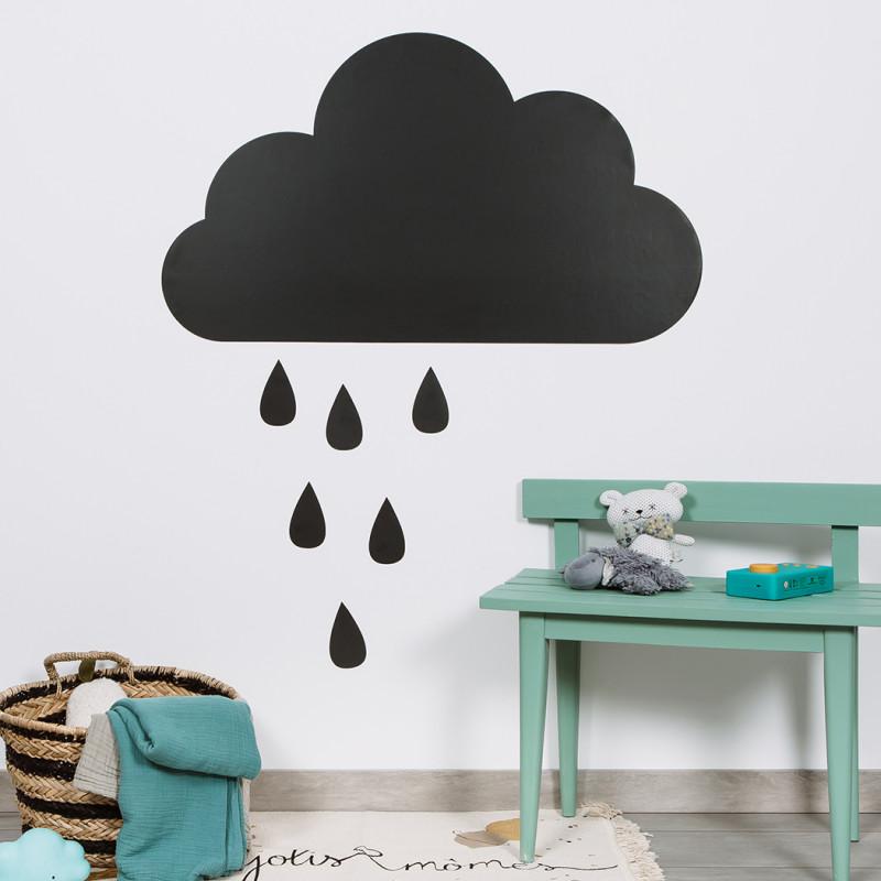 tableau-magnetique-nuage-et-gouttes-de-pluie