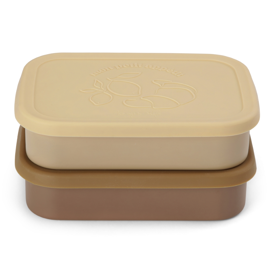 KS2300 - 2 PACK FOOD BOXES LID SQUARE - VANILLA YELLOW - Extra 0