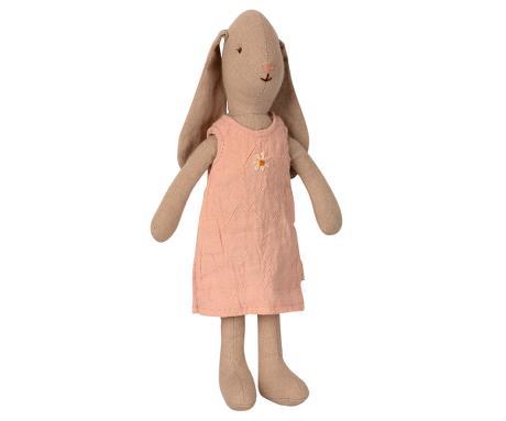 Lapin Maileg taille 1, 22 cm, avec sa robe rose