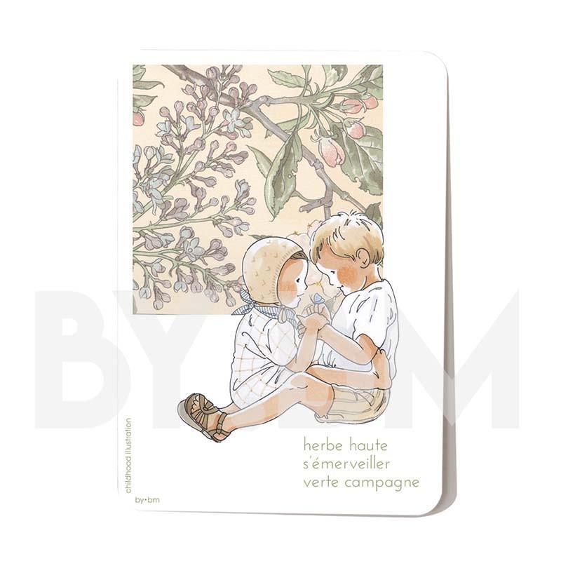 Carte postale Herbe haute 10,5 x 14,5 cm