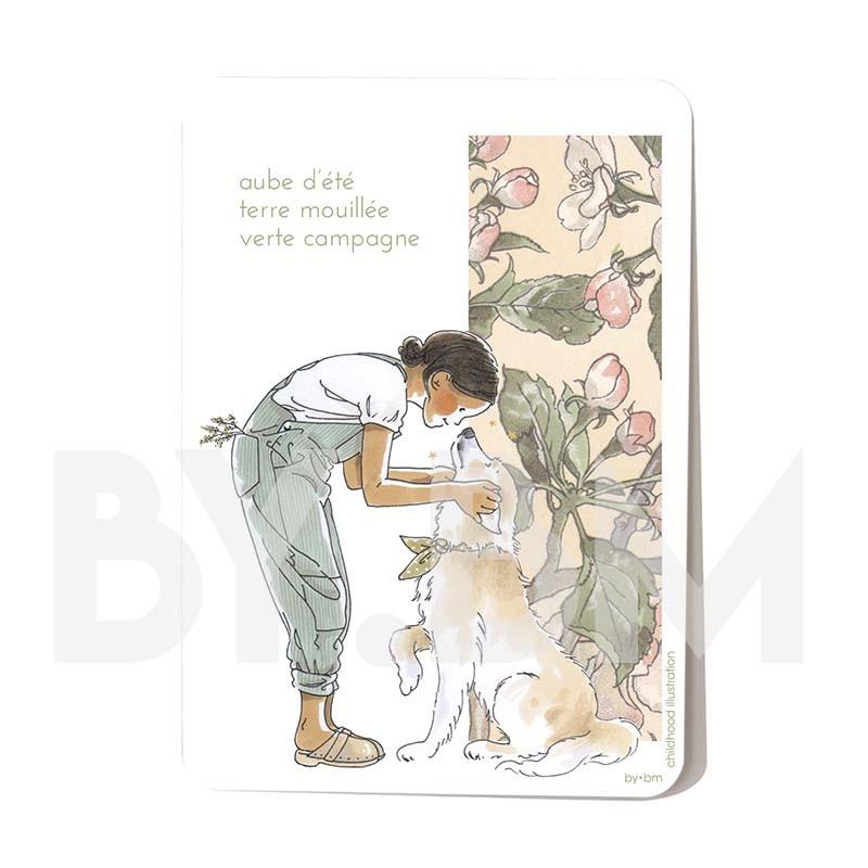 Carte postale Aube d\'été 10,5 x 14,5 cm