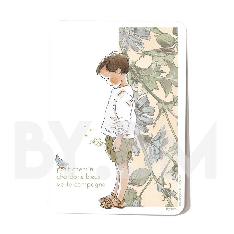Carte postale Petit chemin 10,5 x 14,5 cm