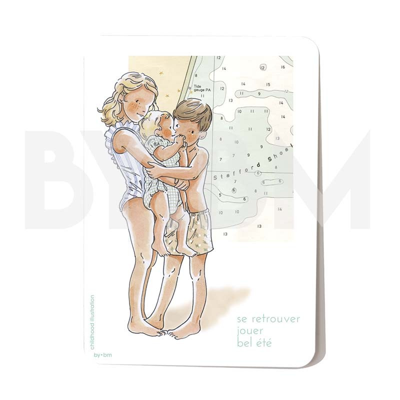 Carte postale Se retrouver 10,5 x 14,5 cm