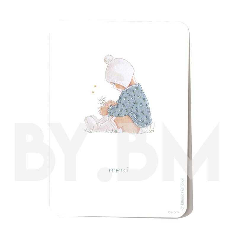 Carte postale Mon coeur - Merci 10,5 x 14,5 cm