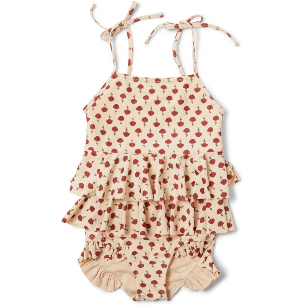 Maillot de bain enfant 1 pièce - Manuca poppyflower red