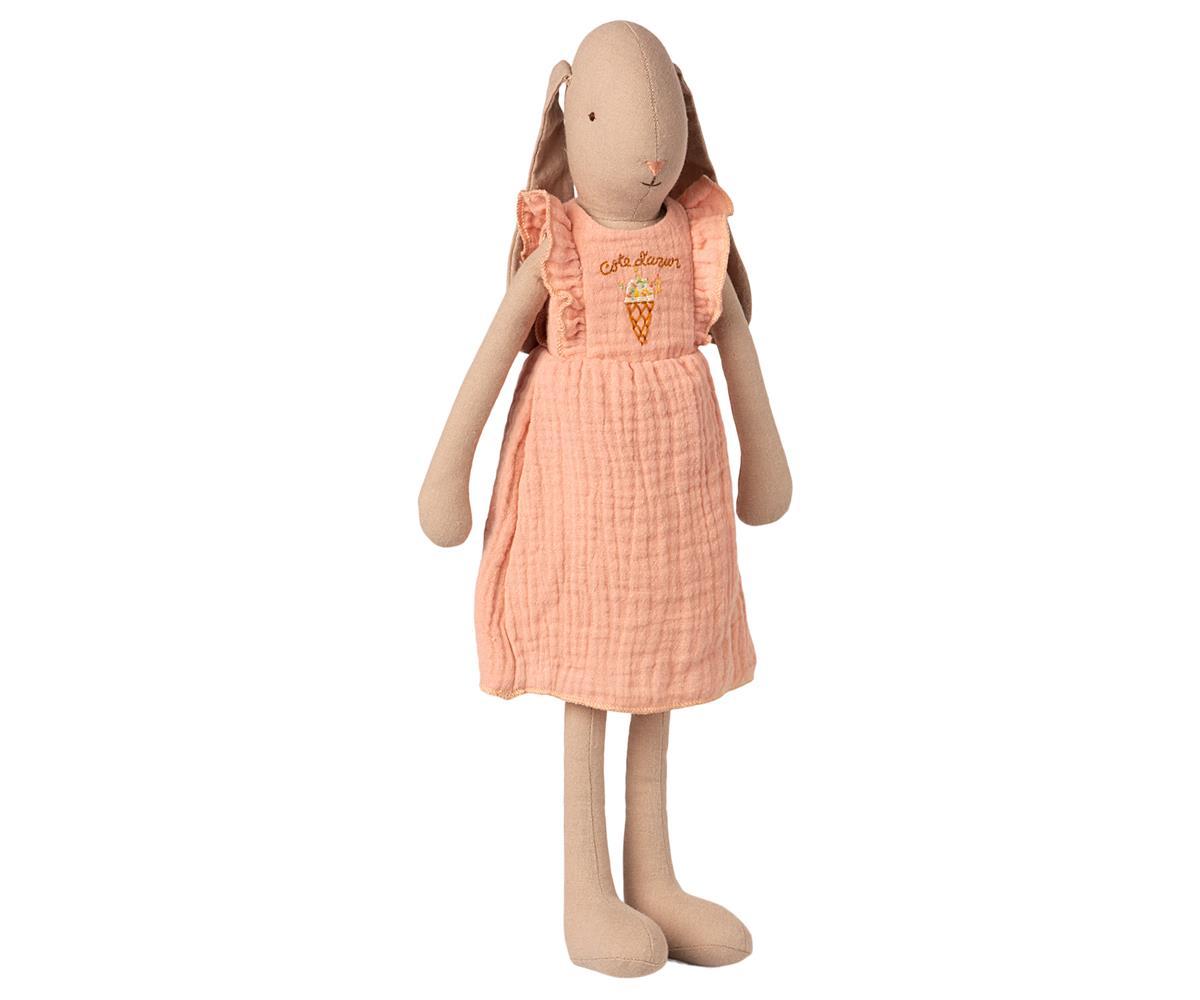 Lapin Maileg en robe rose taille 3 - 42 cm