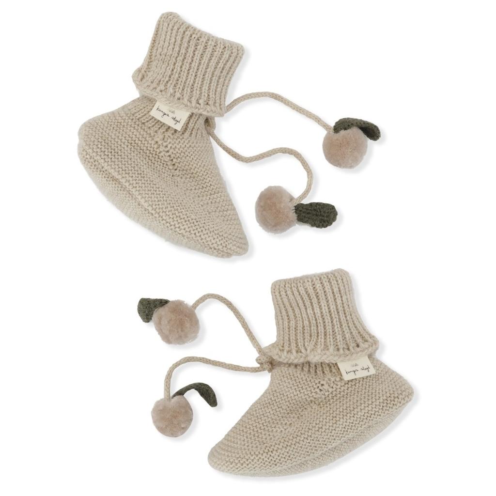 Chaussons tricotés Miro coloris White Cream