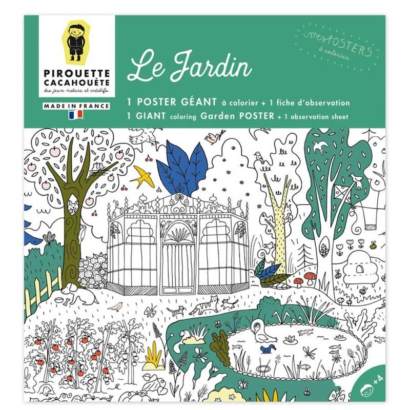 Poster à colorier Le Jardin