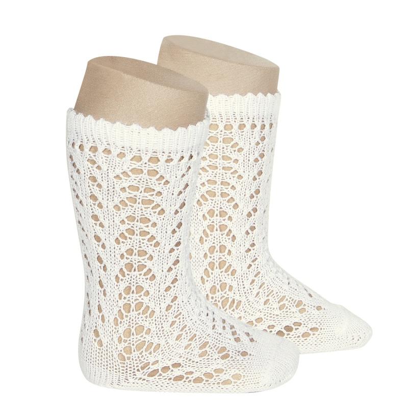 cotton-openwork-knee-high-socks-beige