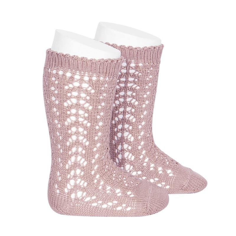 cotton-openwork-knee-high-socks-pale-pink