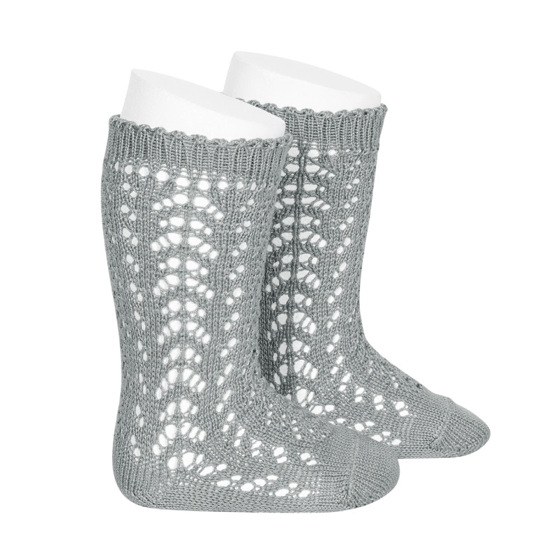 cotton-openwork-knee-high-socks-dry-green-2