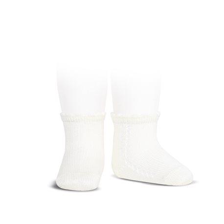 perle-side-openwork-short-socks-white