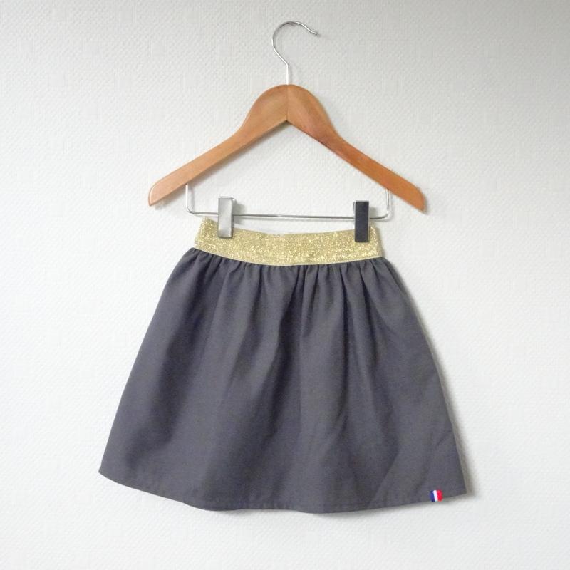Jupe Poivre gris modèle Demoiselle - 8 ans (prix Outlet)