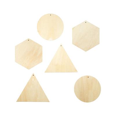Motifs en bois formes géométriques