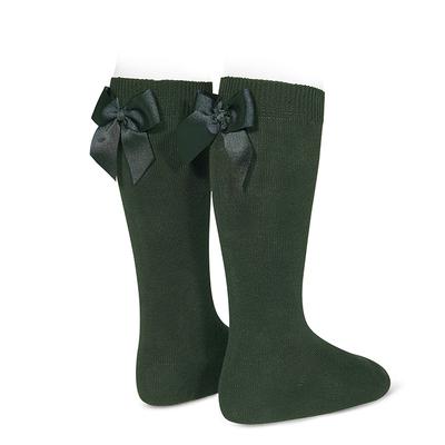Chaussettes hautes à noeuds coloris Vert Bouteille