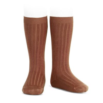 Chaussettes hautes maille côtelée coloris Oxide