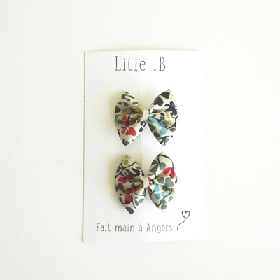 Duo de barrettes Liberty Nina Taylor Forest