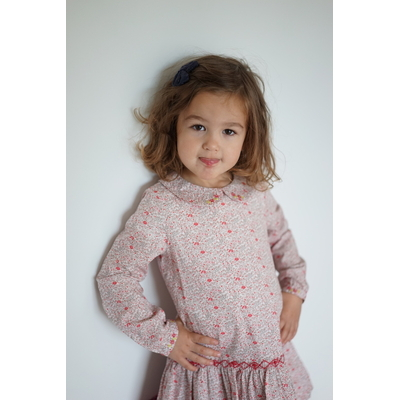 Robe Adele Pinky Floral (12 mois, 24 mois, 36 mois, 6 ans, 8 ans, 10 ans)