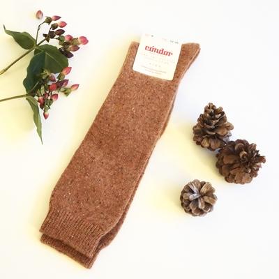 Chaussettes hautes chaudes Everest laine/soie coloris Oxide