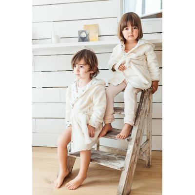 Robe de chambre en polaire et jersey
