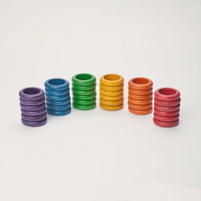 36 anneaux Grapat en 6 couleurs