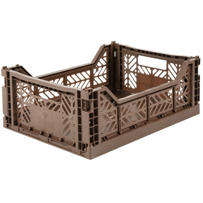 Caisse de rangement pliable Medium coloris Brown