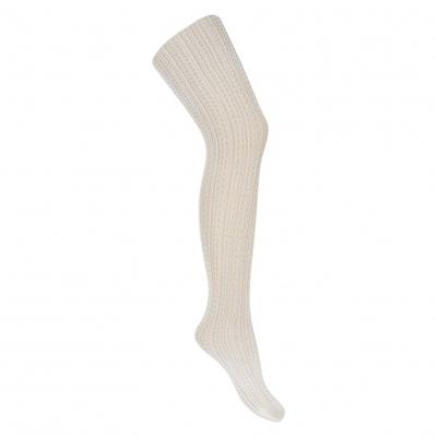 Collants fins ajourés coloris beige