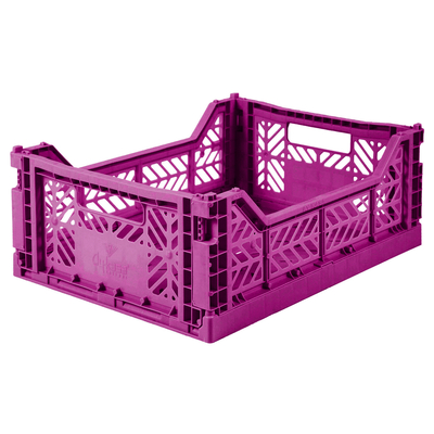 Caisse de rangement pliable Medium coloris Purple