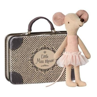 Souris Maileg : grande soeur ballerine dans sa valise
