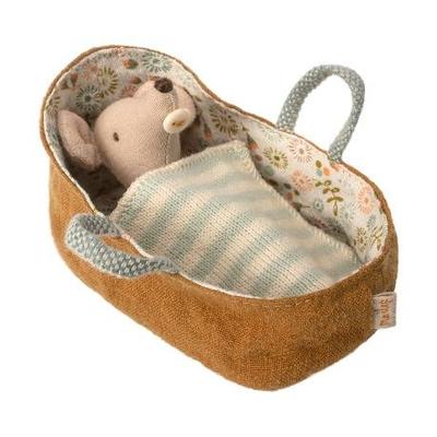 Souris Maileg : bébé dans son couffin
