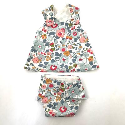 Robe et culotte pour poupée de 30 à 36 cm Liberty Betsy porcelaine