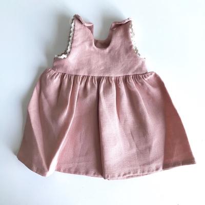 Robe Jessie pour poupée de 32 à 38 cm en lin Blush