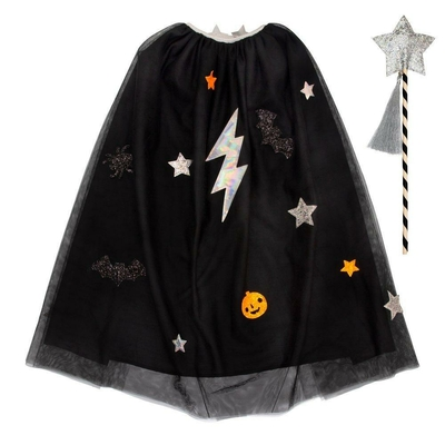 Cape d'Halloween et baguette magique (3/6 ans)