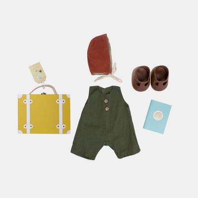 Set de voyage Dinkum Doll Travel Tog coloris moutarde