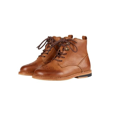 Chaussures Buster Brogue Boots Tan Burnished Leather (du 22 au 32)