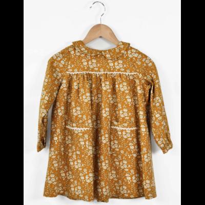 Robe Bella en lainage Liberty Capel moutarde