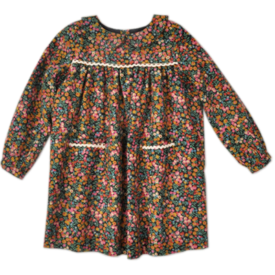 Robe Bella en lainage Liberty Wiltshire Cranberry (4 ans)