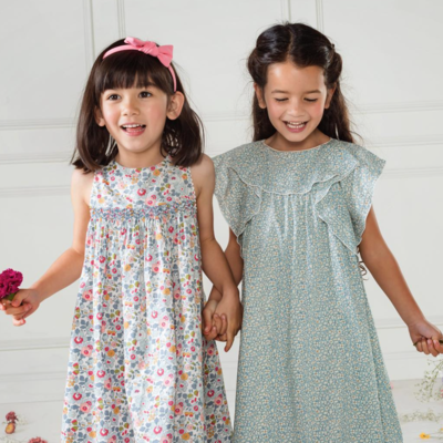 Robe Ava Feather Fields Pale (12 mois, 24 mois, 5 ans, 6 ans, 8 ans)