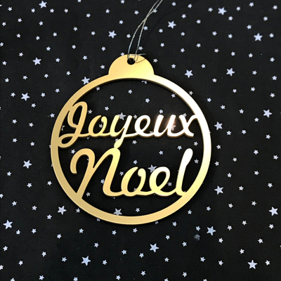 Nat & Cie - boule Joyeux Noël