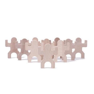 Tiki : 10 personnages en bois