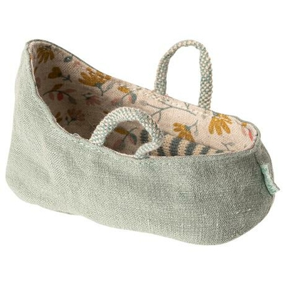 Couffin Maileg pour bébé souris coloris mint