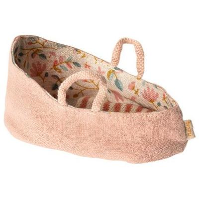 Couffin Maileg pour bébé souris coloris rose