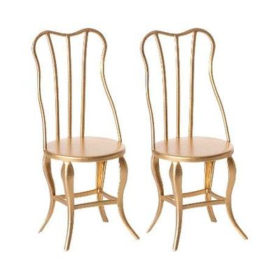 Chaises dorées Maileg vintage format micro