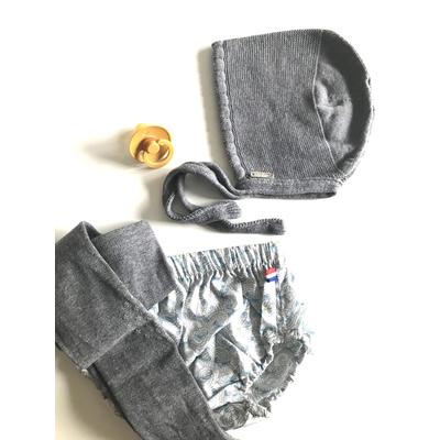 Collants bébé antidérapants avec étoiles coloris Light Grey