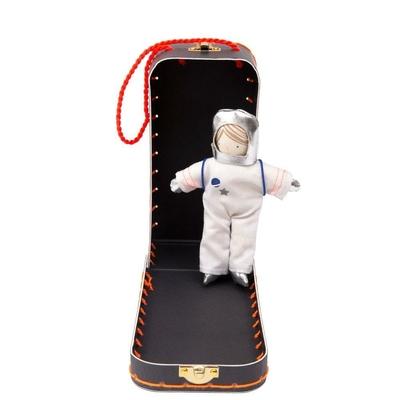 Mini poupée Sam l'astronaute et sa valise fusée